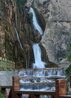 Gunpinar waterfall in Darende, Malatya, East Anatolia_ Turkey