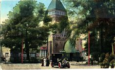 Postcard of the Hungarian National Pavilion, World Fair, 1911, Turin, Italy. Pavilion designed by Moric Pogany