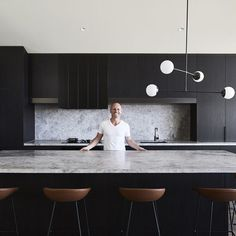 Ceres Gable House – Feature Interview The Local Project Ben Robertson Of Tecturetlp Tecture 014 - My Home Decor Kitchen Room Design, Modern Kitchen Design, Home Decor Kitchen, Interior Design Kitchen, New Kitchen, Kitchen Dining, Kitchen Themes, Kitchen Ideas, Boho Kitchen