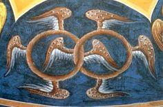 Flügelräder ( Throne). Rumänisch- Byzantinisch