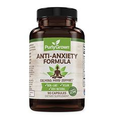 """CALM ANXIETY: Our supplement helps anyone dealing with anxiety by utilizing vitamin B6 to help the body make serotonin, a key to relieving acute social anxiety disorders, and depression.   RELIEVE STRESS: Biotin helps men and women recover from a tough workload, the symptoms of school, performance, separation or relationship anxieties, or mood swings triggered by everyday life."""