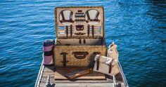 tolle Picknick-Ausrüstung - Set mit Picknickkorb, Decke, Besteck und Geschirr