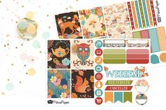 Planner Stickers Weekly Kit Fall Friends for your Erin Condren Life Planner…