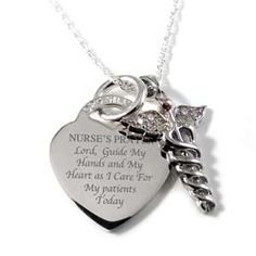 Nurse's Prayer necklace...I want this