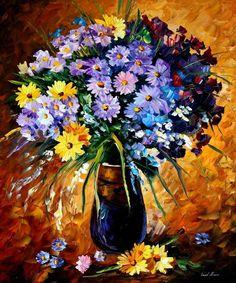Leonid Afremov - Beautiful flowers
