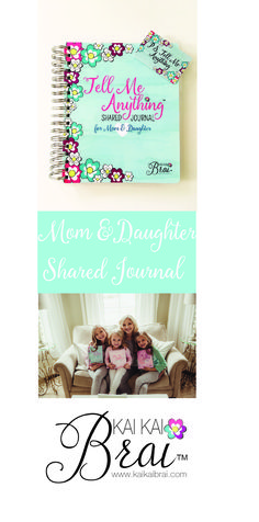 Mom & Daughter Shared Journal designed by a Mom & Daughters to share communication, feelings, creativity, and girl time fun in a trusting, private place.