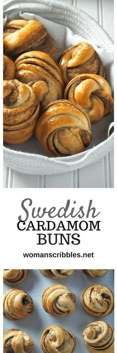 Buns Swedish Cardamom Buns give you sweet and tasty rolls with warm and bright flavors of cinnamon and cardamom spices combined.Swedish Cardamom Buns give you sweet and tasty rolls with warm and bright flavors of cinnamon and cardamom spices combined. Swedish Recipes, Sweet Recipes, Healthy Recipes, Just Desserts, Dessert Recipes, Sweet Bread, Baking Recipes, Bread Recipes, Yummy Food