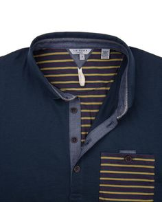 c39aba4a Ted Baker Brillyo Contrast Pocket Polo Shirt in Gray for Men (charcoal) Lyst