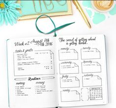 Here are some examples of weekly spread ideas for your bullet journal, by me and other talented fellow bullet journalists, so that you get inspired.