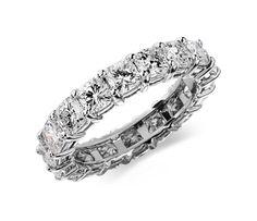 Cushion Cut Diamond Eternity Ring in Platinum #BlueNile #MothersDay #jewelry