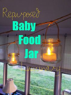 baby food jar luminary @ For My Love of!