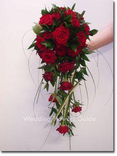Deep Red Rose Cascade