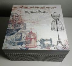 Caixa de costura estilizada | Ateliê Nara Nunes | Elo7