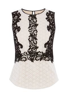 VINTAGE LACE APPLIQUE TOP | Luxury Women's atelier | Karen Millen