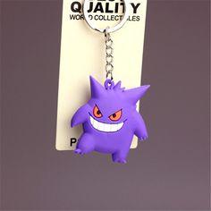 New Pikachu Keychain Pocket Monster Key Holder Pokemon Go Key Ring Pendant 3D Mini Charmander Squirtle Bulbasaur Figure Toy 2016