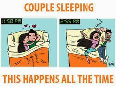 Couple sleeping this happens all the time