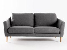 Canapé fixe tissu + pieds bois style scandinave HEJ