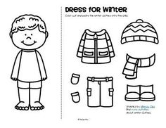 Winter Clothes Dress Boy and Girl Free Winter Clothes Dress Boy and Girl Free Color cut and paste the winter clothes onto the girl and boy.KidSparkz Teacher Resources The post Winter Clothes Dress Boy and Girl Free appeared first on Craft for Boys. Seasons Worksheets, Preschool Worksheets, Preschool Activities, Family Activities, Winter Dresses, Winter Outfits, Boys Winter Clothes, Creative Curriculum, Crafts For Boys