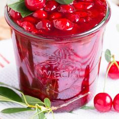 Easy Sour Cherry Sauce is a simple recipe that is ready in minutes and tastes AMAZING! Made with fresh sour cherries also known as tart cherries. Cherry Sauce, Cherry Tart, Cherry Cobbler, Sour Cherry Jam, Ham And Beans, Ham And Bean Soup, Cherry Recipes, Cherry Ideas, Cherry Desserts