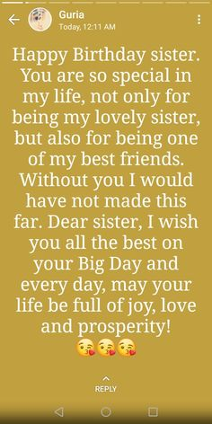 Cute Happy Birthday Wishes, Short Birthday Wishes, Happy Birthday Best Friend Quotes, Happy Birthday Wishes Quotes, Birthday Quotes For Best Friend, Happy Birthday Sister, Bff Quotes Funny, Best Lyrics Quotes, Girl Pictures