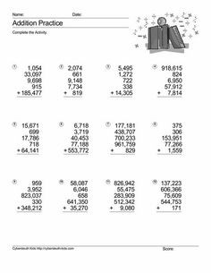 Area of Polygons Worksheets Free | Muliple Addends Addition Math Worksheets - Free Math Worksheets and ...