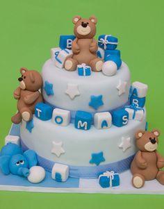 tortas para baby shower varon cuadradas - Buscar con Google