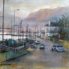 Cape Town cityscape paintings - 'St James' by Karen Wykerd South African Artists, Artwork Display, Saint James, Cape Town, Online Art Gallery, Saints, Paintings, Santiago, Paint