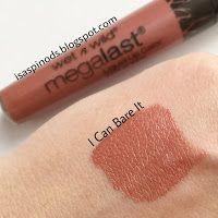 Wet n Wild Megalast Liquid Lip Color en I Can Bare It Swatch en Little Fairy Blog Haul Usa: NYX, Revlon, Aussie, Nivea, Freeman y Más!