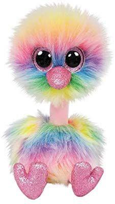 Alaska Stuffed Animals, Amazon Com Ty Beanie Boos Asha Pastel Ostrich Toys Toys Games Beanie Boos Ty Beanie Boos Boo And Buddy