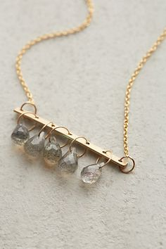 Crystal Bells Necklace #anthropologie