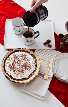 The BEST Easy Homemade Chocolate Pudding Pie… and perfect for those pregnancy cravings or holiday parties since this one has NO raw eggs.