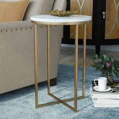 Find Wasser End Table Mistana online. Shop the latest collection of Wasser End Table Mistana from the popular stores - all in one Small Accent Tables, Small Tables, Small Round Side Table, Side Table With Storage, Vintage Stil, Nesting Tables, Living Room Furniture, Furniture Decor, Furniture Sale