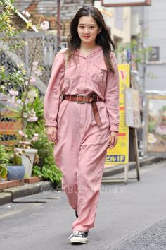 Nodoka   used NO BRAND CONVERSE 無印良品   3rd week Apr. 2016   Harajuku   Tokyo Street Style   TOKYO STREET FASHION NEWS   style-arena.jp