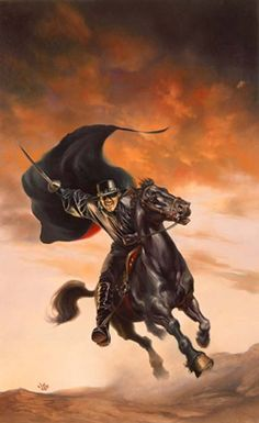 Zorro rides