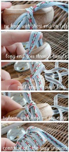 fabric/ribbon covered bangle