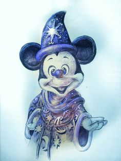 This would look good in a blue glitter tumbler Mickey Mouse Kunst, Mickey Mouse Cartoon, Mickey Mouse And Friends, Minnie Mouse, Mickey Tattoo, Disney Tattoos, Mickey Mouse Pictures, Disney Pictures, Disney Artwork