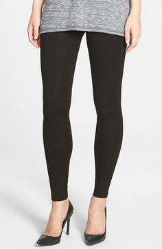 Free shipping and returns on Hue 'Blackout' Leggings at Nordstrom.com. A dense ponte-knit fabric keeps the look opaque and the feel smooth on classic leggings finished with center back seams.