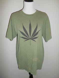 90s faded thrashed grunge     Pot Leaf Shirt by ATELIERVINTAGESHOP