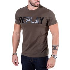 REPLAY Ανδρικό μαύρο κοντομάνικο μπλουζάκι T-Shirt - TOPTENFASHION.gr - 25 € 2707a760c6b