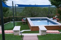 An Original Endless Pool® with a nearby putting green, for a taste of country-club living on your own deck.