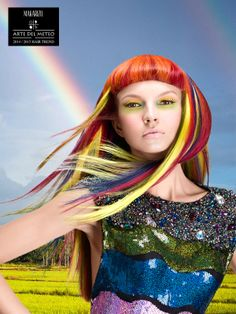 Rainbow Flow  is a Pret-a-Porter look that signifies colorful life and hope where one can explore more hair colors with Makarizo Concept Ultimax.