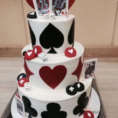 Poker cake. Fondant on buttercream.