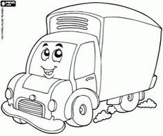 Omalovánka Kamion na silnici