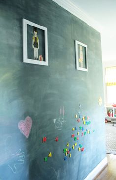 I really want another chalk wall!  And magnetic makes it cooler.