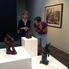 Brenda May and Todd Fuller checking out the work in his solo show on view until 6pm tonight!