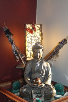 One of our Buddhist alters. This one is in the bedroom where it catches the first light of the sun.