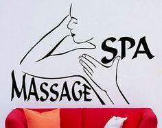spa beauty salon wall vinyl decal massage sticker by