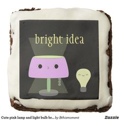 Cute pink lamp and light bulb brownie