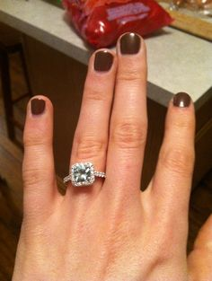 """""""an aquamarine engagement ring for the couples who have always strayed from traditional."""""""