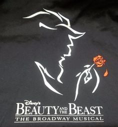 Disney's Beauty And The Beast The Broadway Musical T-Shirt Adult M Medium #Disney